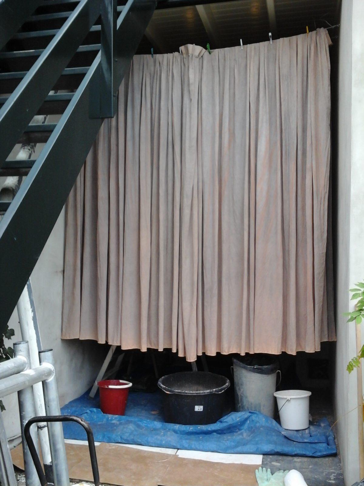gordijnen verven met amazona krijtverf
