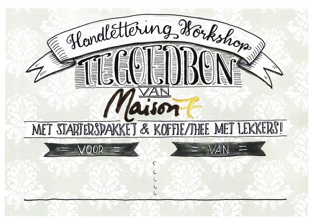 handlettering workshop tegoedbon