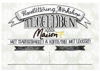 handlettering workshop tegoedbon