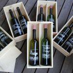 Upcycling wijnflessen in wijnkistjes