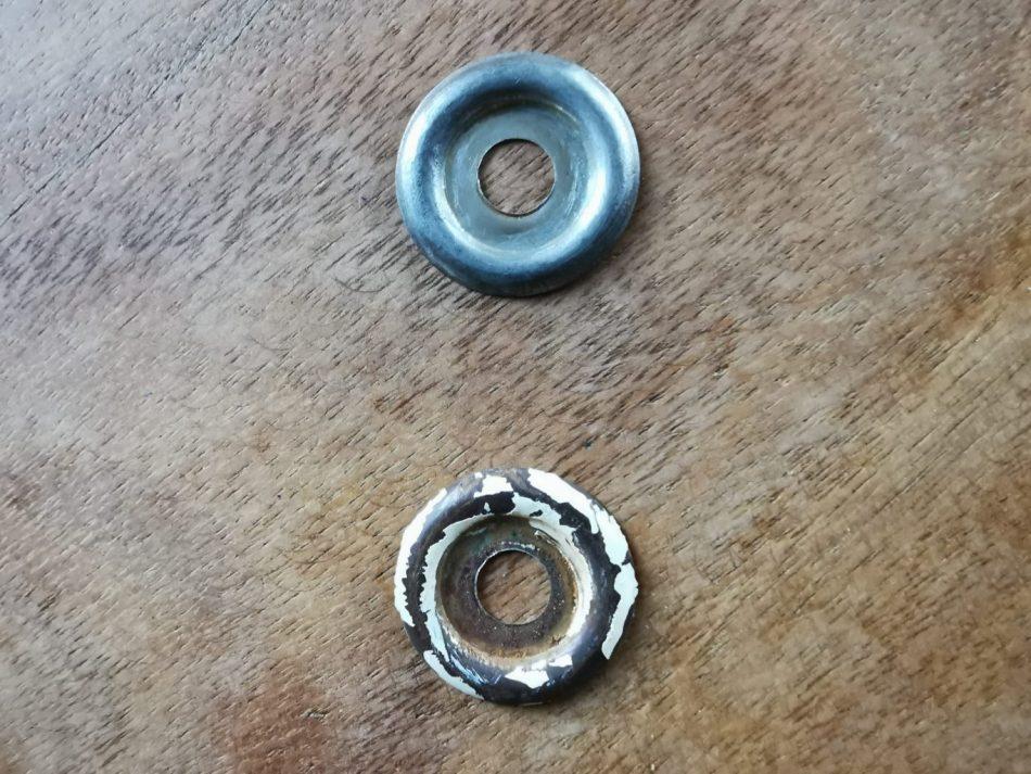 voor en na behandeling met aluminiumfolie